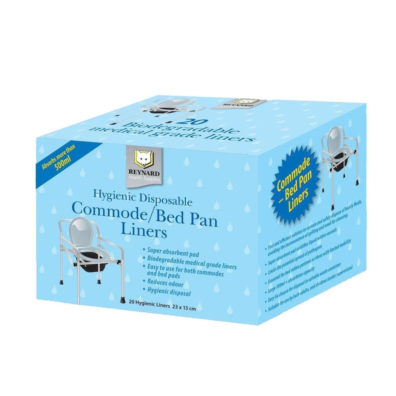 Commode Liners - Pack of 20