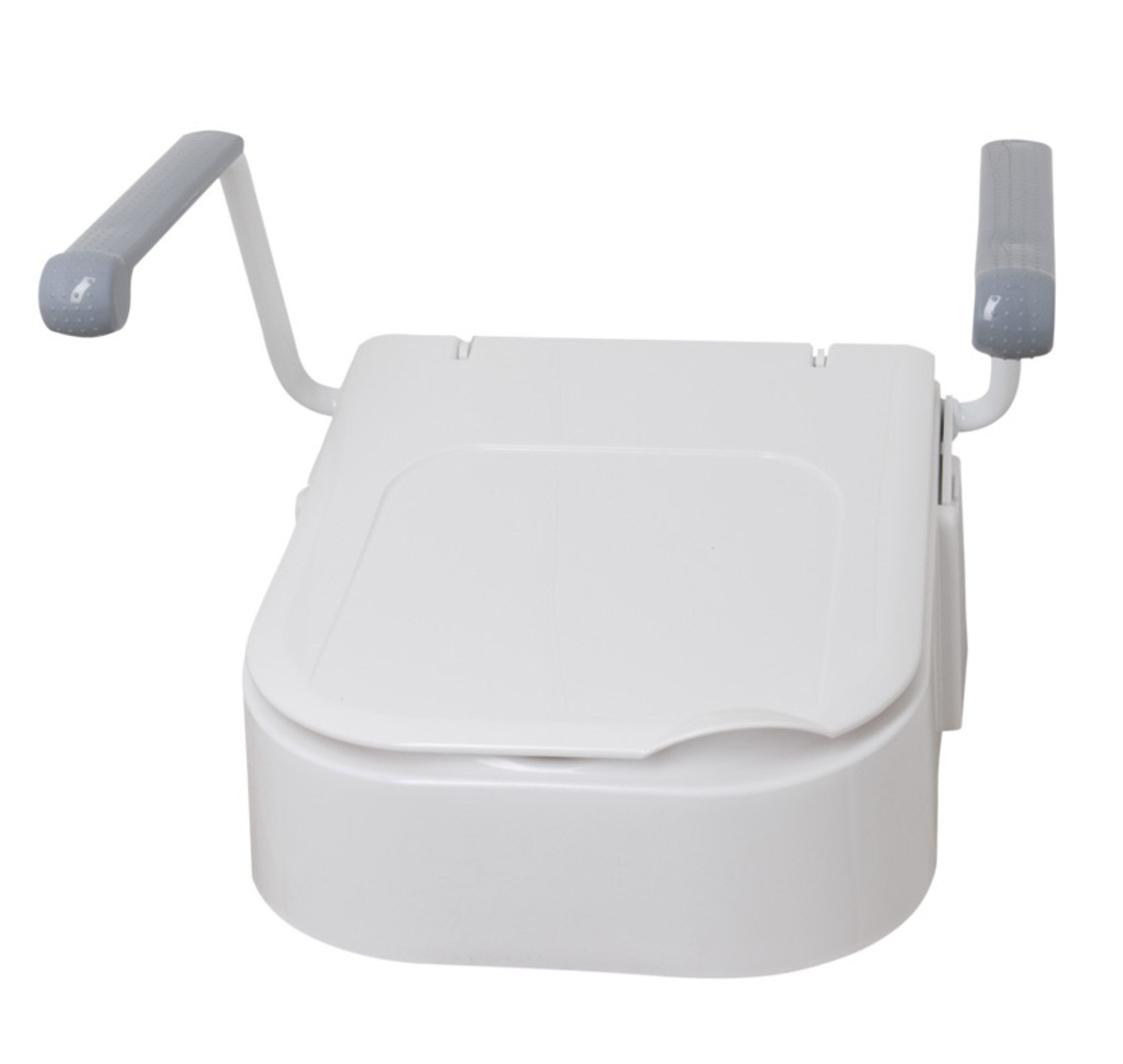 Raised Toilet Seat with Arms
