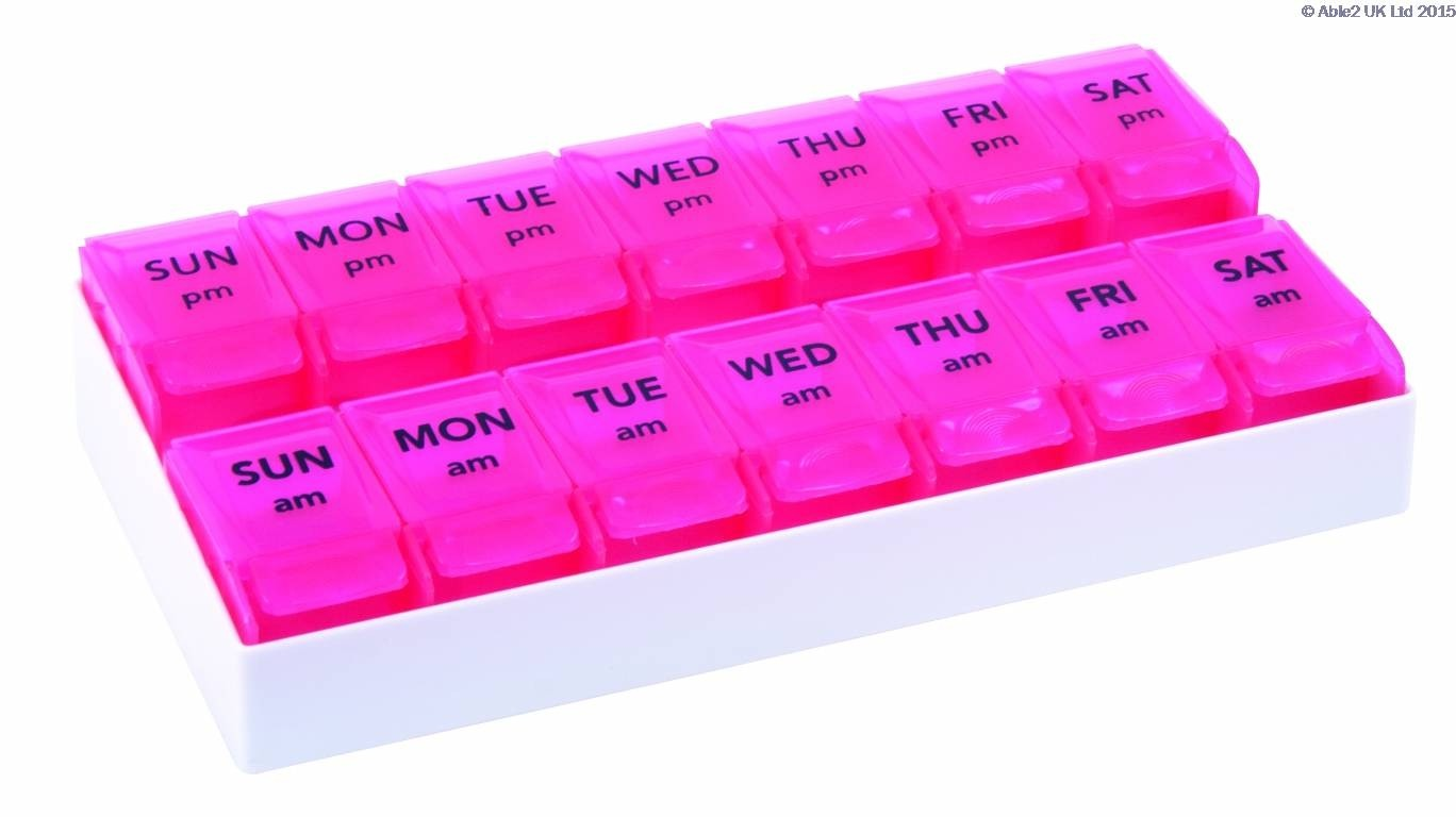 7 Day AM/PM Push To Open Pill Organiser
