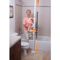 Security Pole & Curve Grab Bar