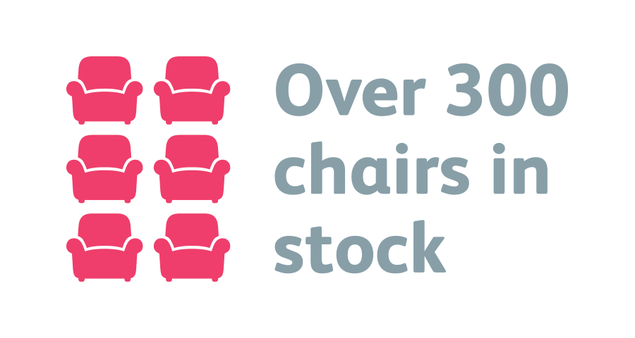 Over 300 Chairs In Stock