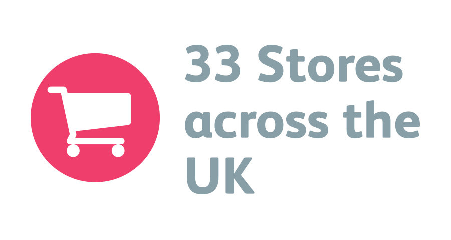 33 Stores Throughout The UK